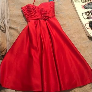 NWT Affairs by Mori Lee Red Tea length Cocktail
